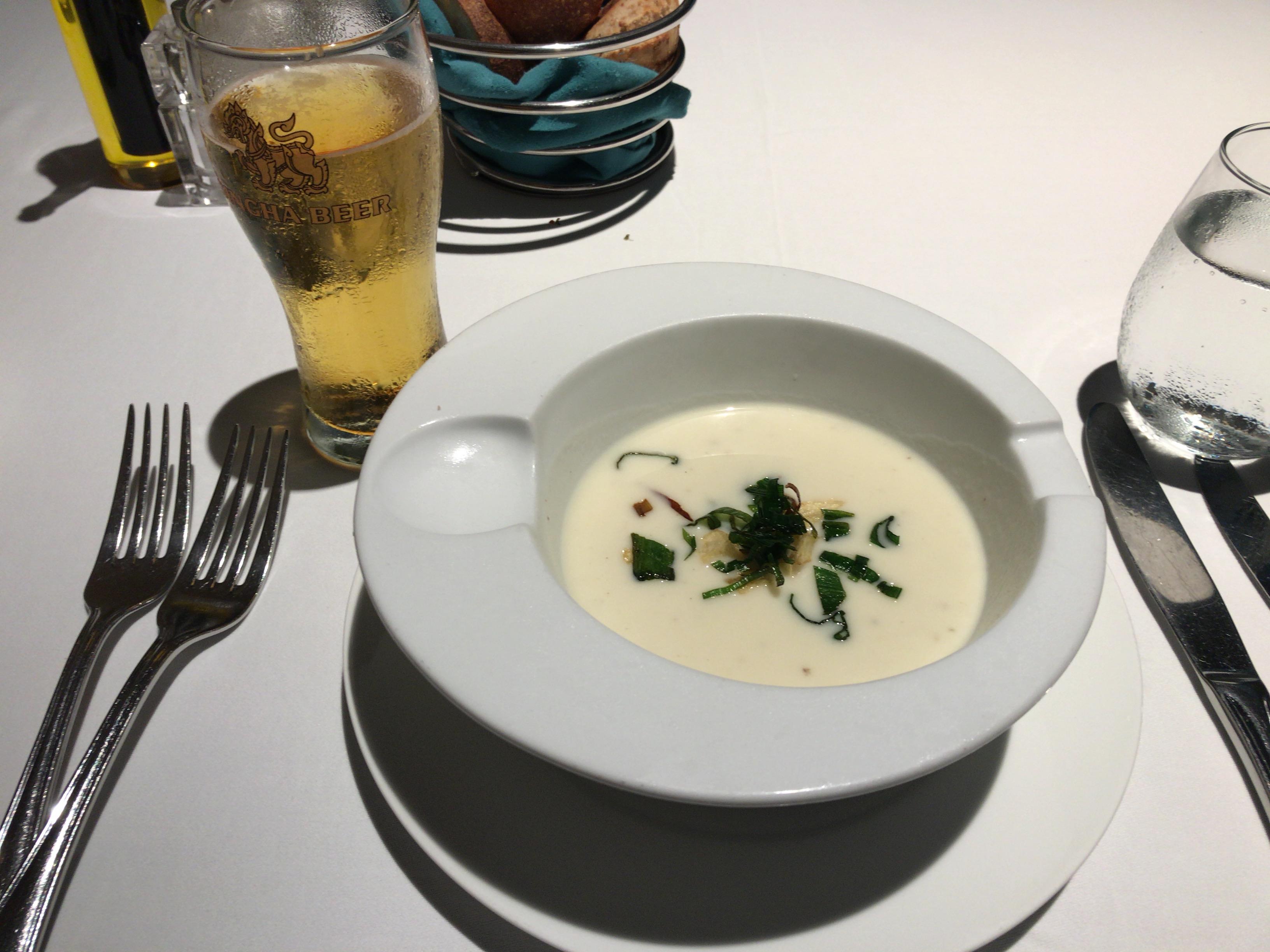 クラブメッドフィノールのスープ