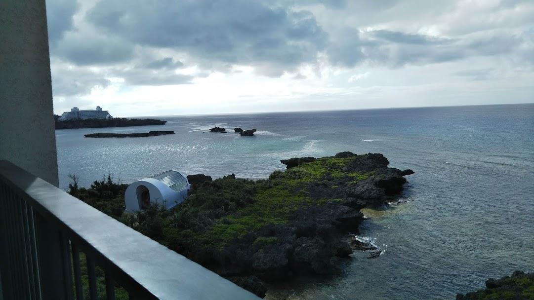 ハイアットリージェンシー瀬良垣アイランド沖縄のベランダからの風景