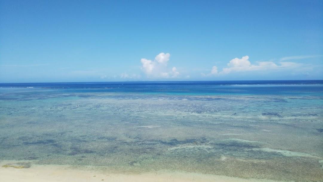 沖縄ホテル前のビーチ